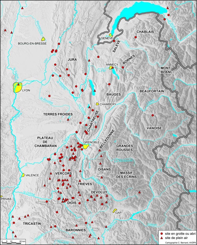 Carte sites préhistoriques